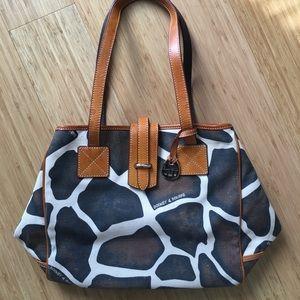 Dooney & Bourke vintage leather canvas purse